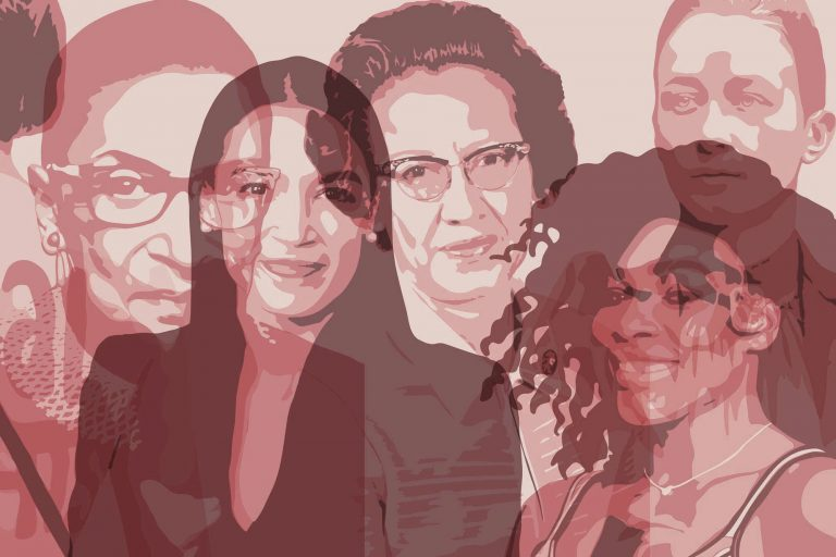 Illustrated portraits of six women for Women Who Inspire Us post