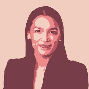 Illustration of Alexandria Ocasio-Cortez
