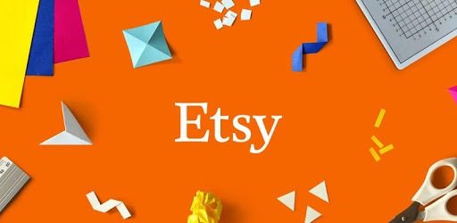 Photo of scissors, ruler, and other craft supplies with the text 'Etsy' on top for Shopping Good post