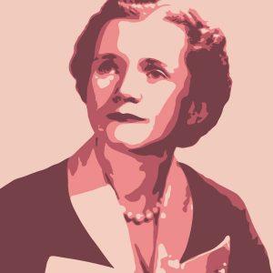 Illustration of Rachel Carson