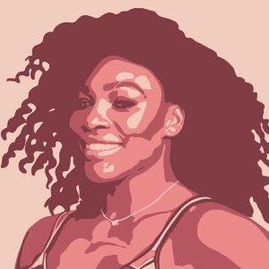 Illustration of Serena Williams