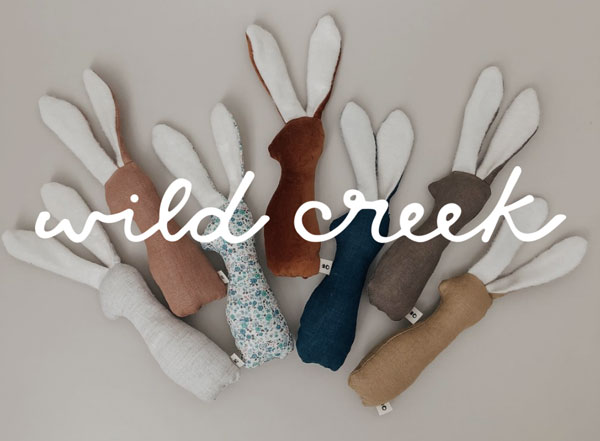 Photo of fabric with the text 'Wild Creek' on top of it for Shopping Good post