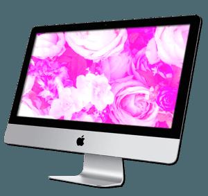 a Mac desktop computer
