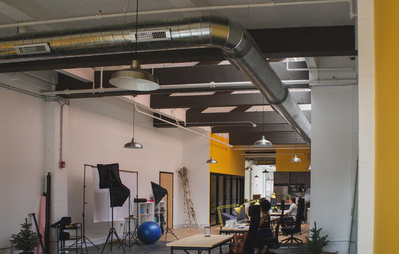 Photo of the TGW Studio space